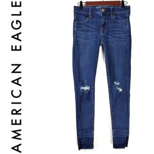 American Eagle Distressed Skinny Jeans Size 4